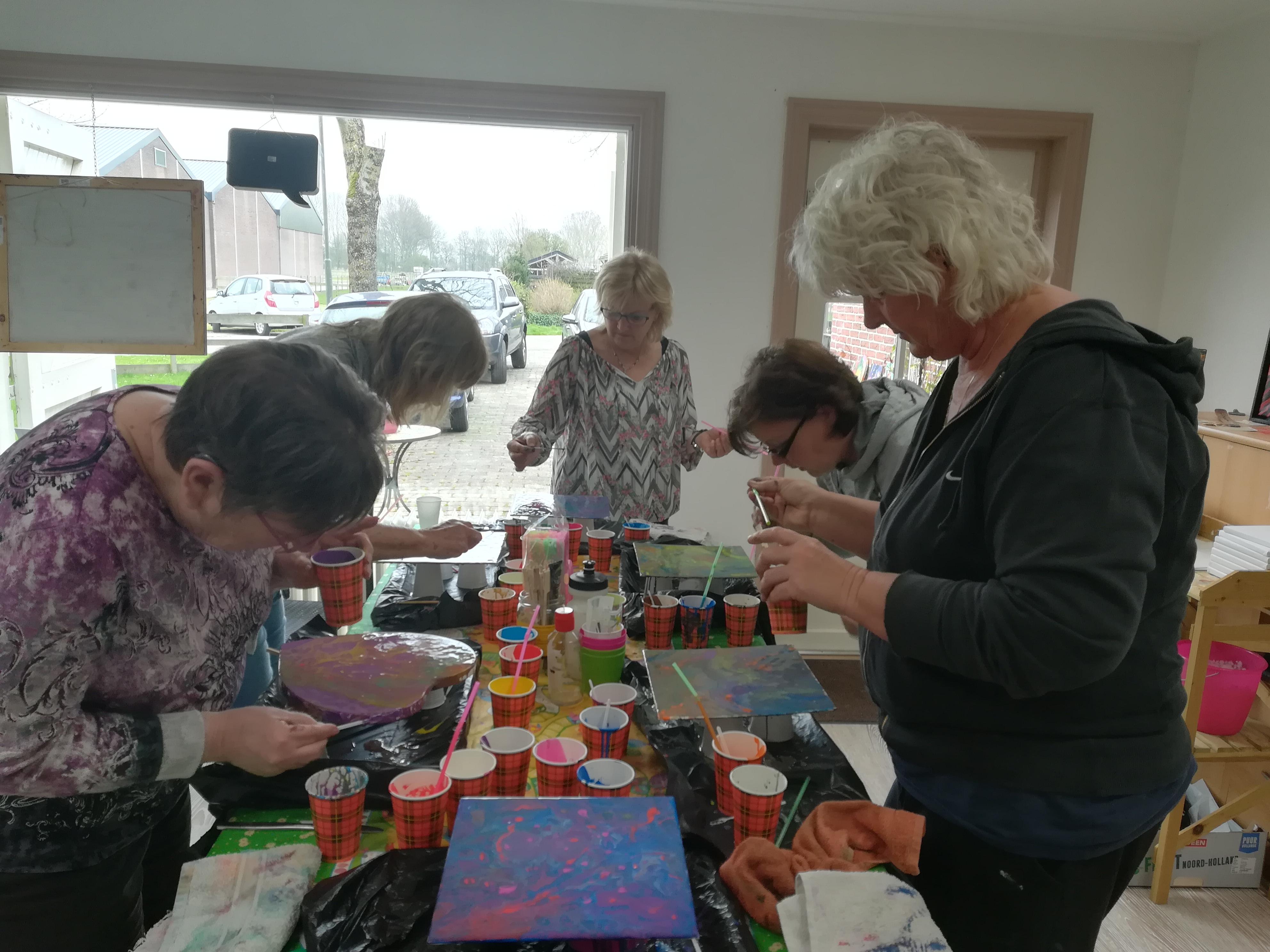 Workshops en lessen schildersatelier ellen tiebie